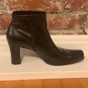 Franco Sarto Squared Toe Bootie Size 9.5